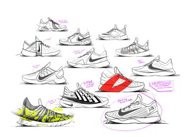 Nike Demar Derozan运动鞋手稿设计