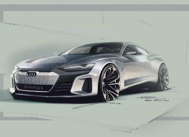 奥迪e-tron GT概念车草图