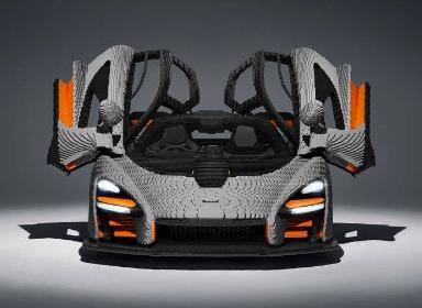 LEGO全尺寸mclaren汽车模型