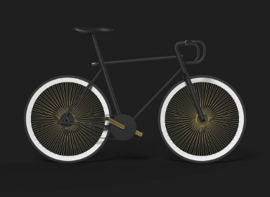 简约风格自行车设计